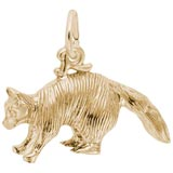 14K Gold Raccoon Charm by Rembrandt Charms