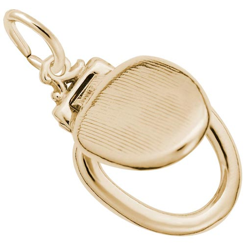 10k Gold Toilet Seat Charm by Rembrandt Charms