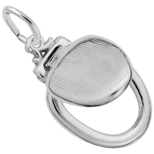 Sterling Silver Toilet Seat Charm by Rembrandt Charms