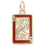 10K Gold Queen of Hearts Card Charm by Rembrandt Charms
