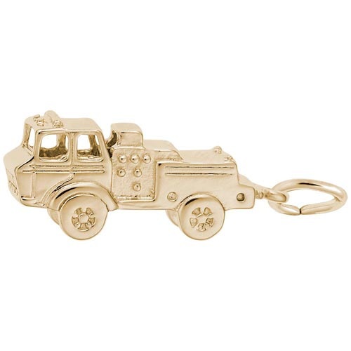 Gold Plated Fire Truck Charm by Rembrandt Charms