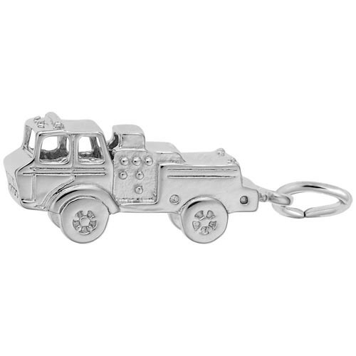 Sterling Silver Fire Truck Charm by Rembrandt Charms