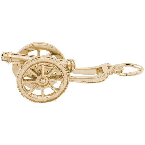 14K Gold Cannon Charm by Rembrandt Charms
