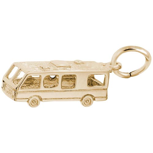 Gold Plated RV. Motor Home Charm by Rembrandt Charms