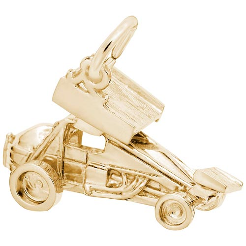14K Gold Winged Sprint Car Charm by Rembrandt Charms