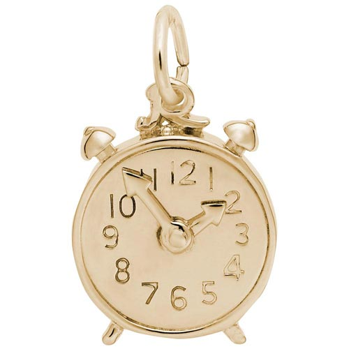 14k Gold Alarm Clock Charm by Rembrandt Charms
