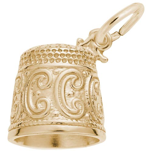 14K Gold Thimble Charm by Rembrandt Charms
