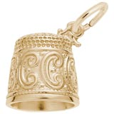 Gold Plated Thimble Charm by Rembrandt Charms