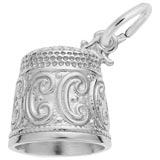 Sterling Silver Thimble Charm by Rembrandt Charms