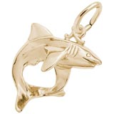 Gold Plate Shark Charm by Rembrandt Charms