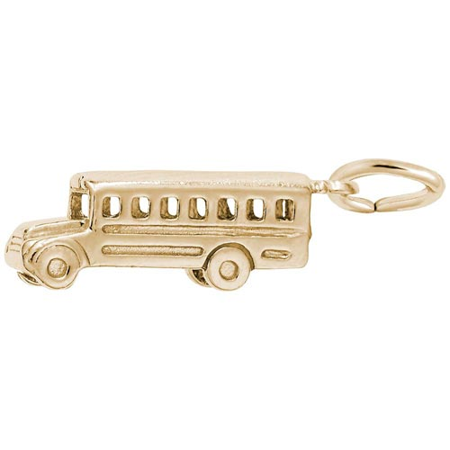 10K Gold School Bus Charm by Rembrandt Charms