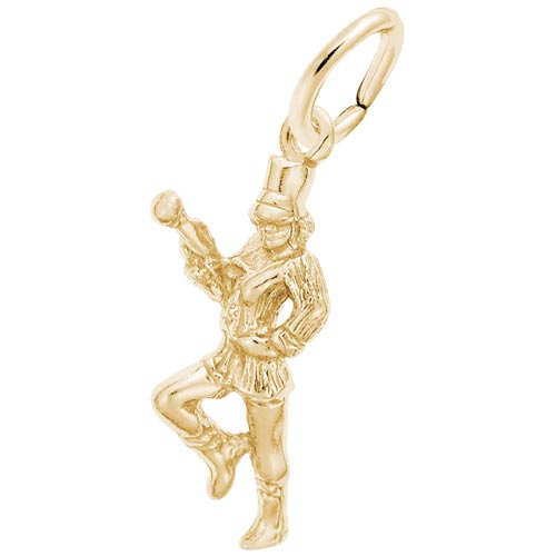 Gold Plate Majorette Charm by Rembrandt Charms