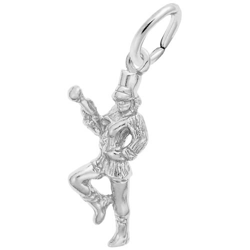 14K White Gold Majorette Charm by Rembrandt Charms