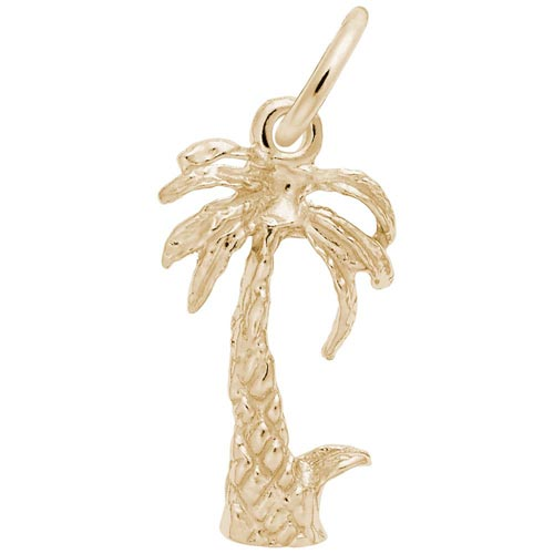 14K Gold Palm Tree Accent Charm by Rembrandt Charms