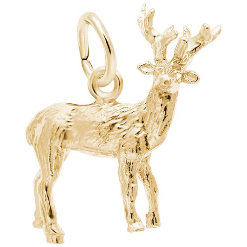 10K Gold Elk Charm by Rembrandt Charms