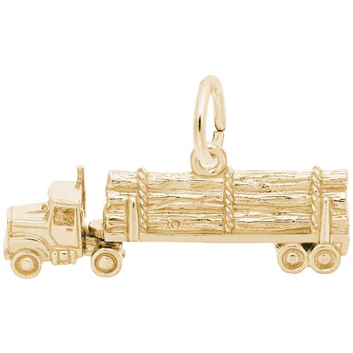 Rembrandt Log Truck Charm, Gold Plate