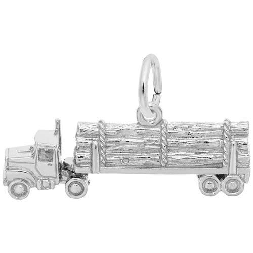 Rembrandt Log Truck Charm, Sterling Silver