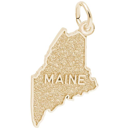 Gold Plated Maine Charm by Rembrandt Charms