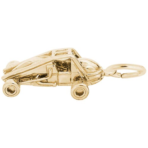 Gold Plate Non-Winged Sprint Car Charm by Rembrandt Charms
