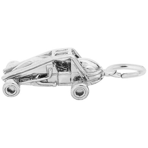 Sterling Silver Non-Winged Sprint Car Charm by Rembrandt Charms