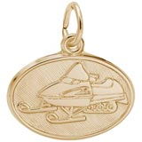 Gold Plated Snowmobile Charm by Rembrandt Charms