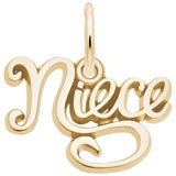 Gold Plate Niece Charm by Rembrandt Charms