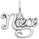 14k White Gold Niece Charm by Rembrandt Charms