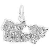 14K White Gold Canada Map Charm by Rembrandt Charms