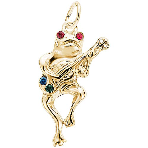14K Gold Musical Frog Charm by Rembrandt Charms