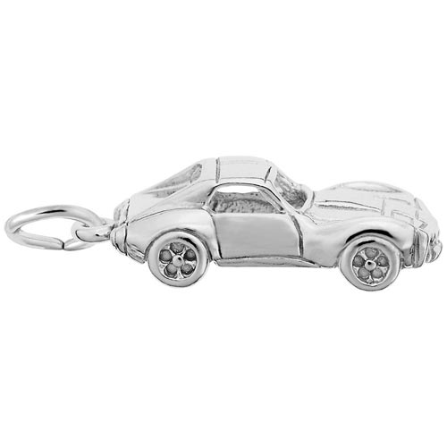 14k White Gold Sports Car Charm by Rembrandt Charms