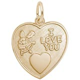 14K Gold I Love You Heart Charm by Rembrandt Charms