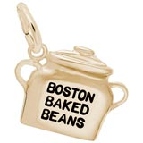 Gold Plated Boston Baked Beans Charm by Rembrandt Charms