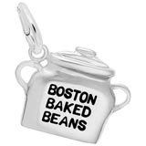 14K White Gold Boston Baked Beans Charm by Rembrandt Charms