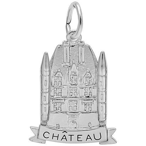 14K White Gold Chateau Charm by Rembrandt Charms