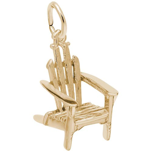 14k Gold Adirondack Chair Charm by Rembrandt Charms