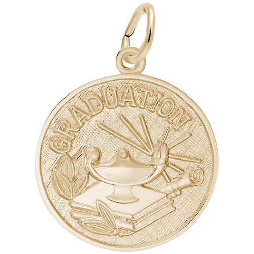 14k Gold Graduation Charm by Rembrandt Charms