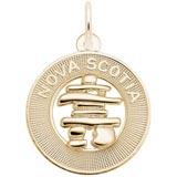 10K Gold Nova Scotia Inukshuk Ring Charm by Rembrandt Charms