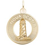Gold Plate Nova Scotia Lighthouse Charm by Rembrandt Charms