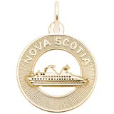 Gold Plate Nova Scotia Cruise Ship Charm by Rembrandt Charms