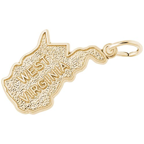 14K Gold West Virginia Charm by Rembrandt Charms
