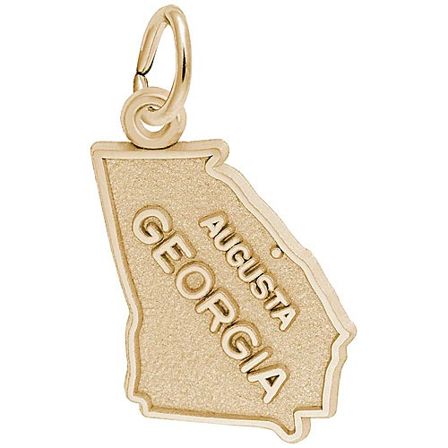 14K Gold Augusta, Georgia Charm by Rembrandt Charms