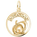 Gold Plate Savannah Peach Charm by Rembrandt Charms