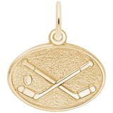 Gold Plated Hockey Disc Charm by Rembrandt Charms