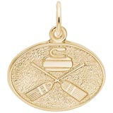 10K Gold Curling Charm by Rembrandt Charms