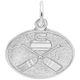 14K White Gold Curling Charm by Rembrandt Charms
