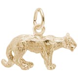 14K Gold Cougar Charm by Rembrandt Charms