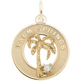 Gold Plated Palm Springs Palm Tree Charm by Rembrandt Charms