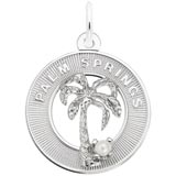 14K White Gold Palm Springs Palm Tree Charm by Rembrandt Charms