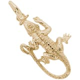 Gold Plate Iguana Charm by Rembrandt Charms