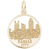 14K Gold Kansas City Skyline Charm by Rembrandt Charms